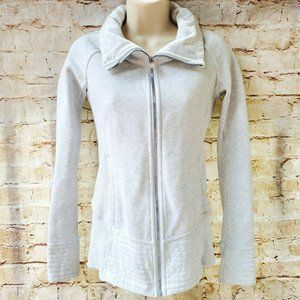 Lululemon Sz 2 Radiant Jacket Heathered White